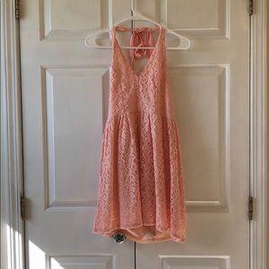 Altard state pink halter backless dress